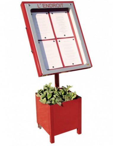 Porte menu Provence 4 pgs + pied 004020