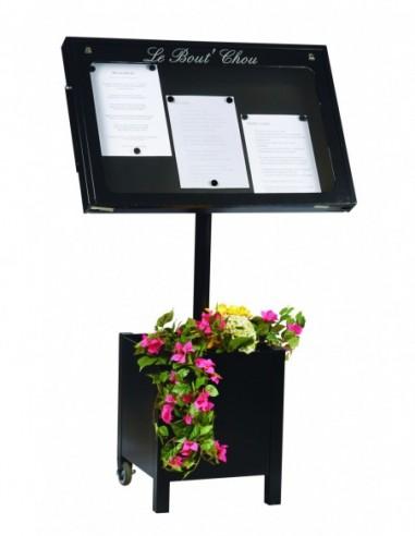 Porte menu Lubéron 3 pgs + pied 004020
