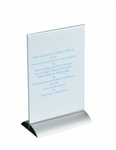 Porte menu de table plexiglas A4