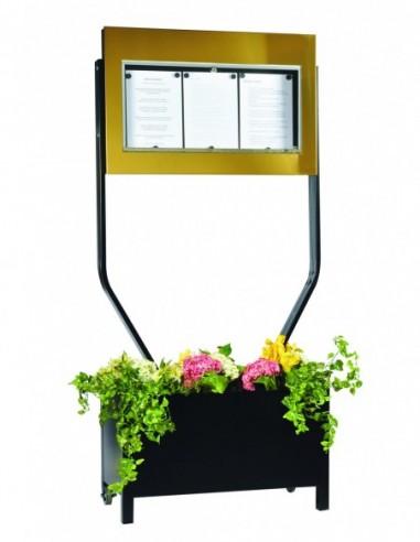 Porte menu Bourgogne 3 pgs d/face +...