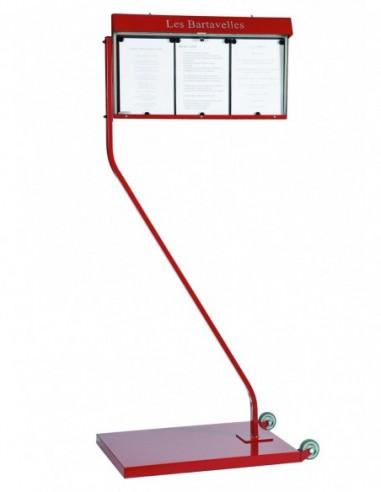 Porte menu Club 3 pages lumineux sur...