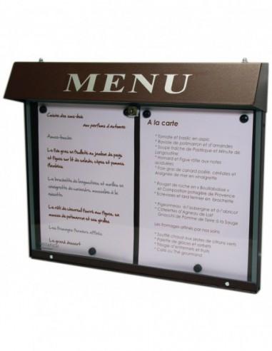 Porte menu Club 2 pgs mural  lumineux
