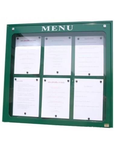 Porte menu Lubéron 6 pgs  mural
