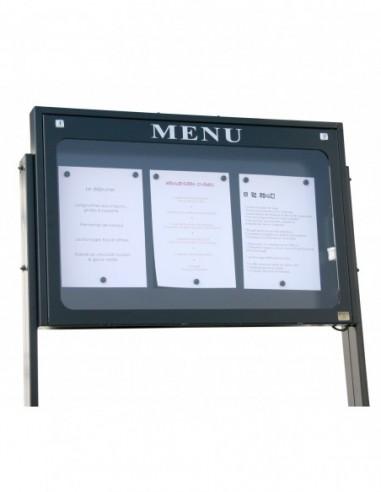 Porte menu Lubéron 3 pgs mural