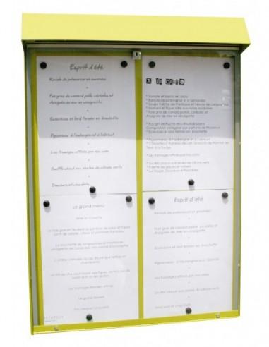 Porte menu Club 4 pgs mural lumineux