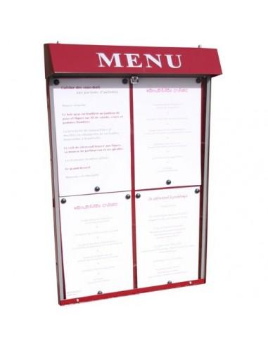 Porte menu Club 4 pgs mural n/lumineux