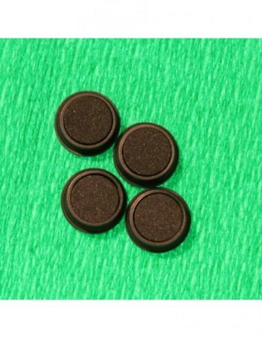 4 plots magnétiques diam 12 noir