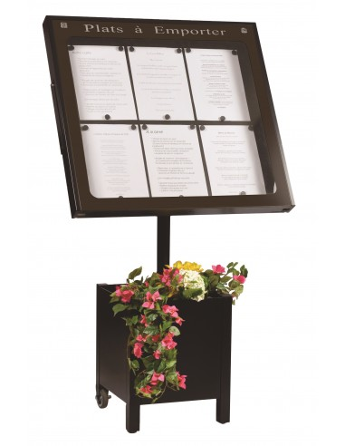 Porte menu Lubéron 6 pgs + pied 004020
