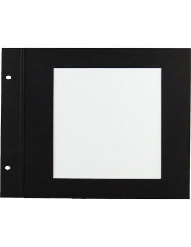 10 intercalaires 21x21 papier noir à...