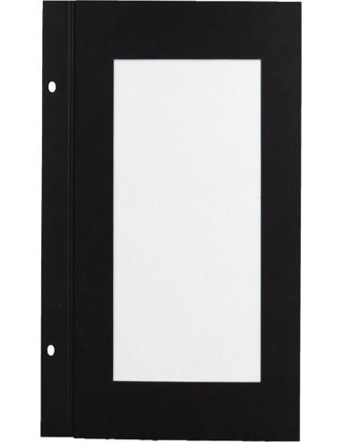 10 intercalaires Bar papier noir 2 vues