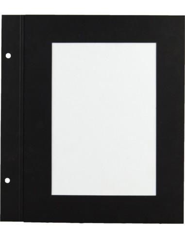 10 intercalaires A5 papier noir 2 vues
