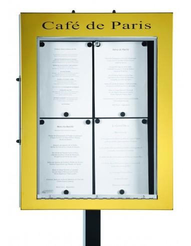 Porte menu Bourgogne 4 pgs mural