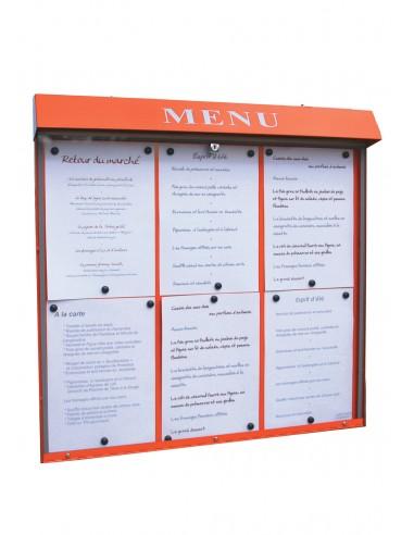 Porte menu Club 6 pgs mural