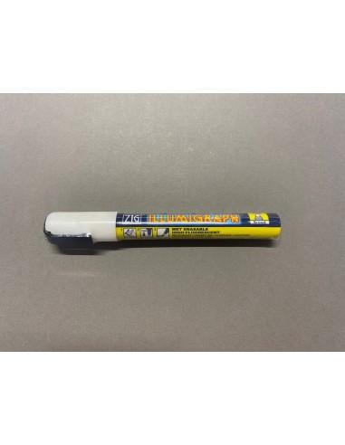 Feutre craie pointe fine 6mm blanc