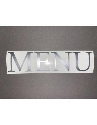 Lettres  menu hauteur 40 mm