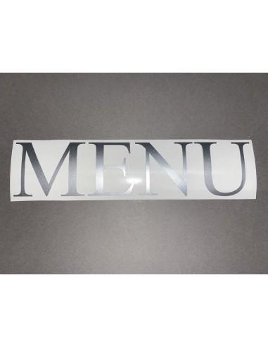 """Lettres adhésives """"MENU"""" hauteur 50mm"""