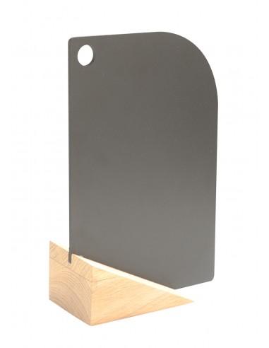 Ardoise de table socle bois