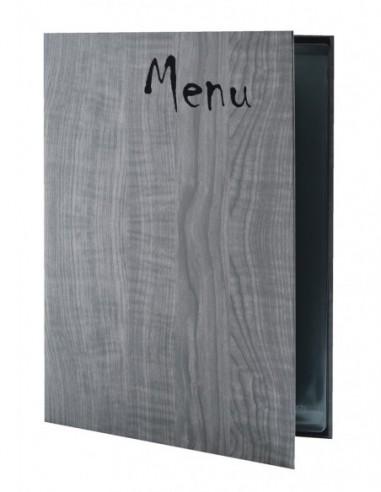 Carte de table Woodstock A4 - gris 2020